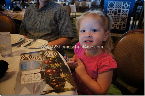 55 Reasons you will LOVE a Disney Cruise - kids menus