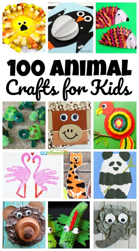 Over 100 Amazing Animal Craft Ideas for kids of all ages from toddler, preschool, kindergarten and more!! #craftsforkids #zootheme #animals