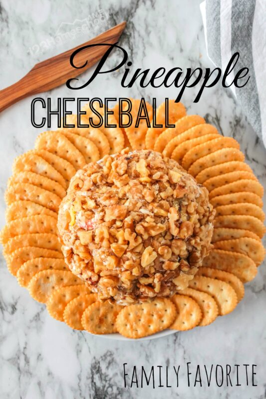 Sweet Pineapple Cheese Ball is a super easy, family favorite, appetizer recipe