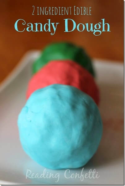 candy dough recipe for play - What a cool, unique playdough recipes kids will love to play with!