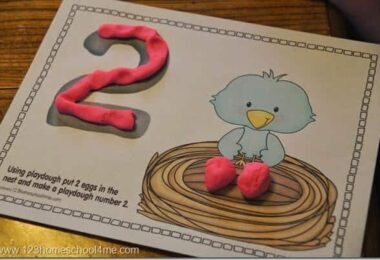 Fun Number Playdough Mats