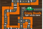 Crazy Roads Primer Sight Words Game