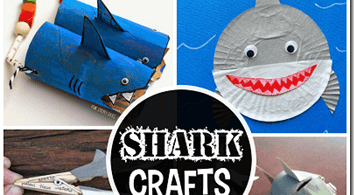 FUN Shark Crafts for Kids