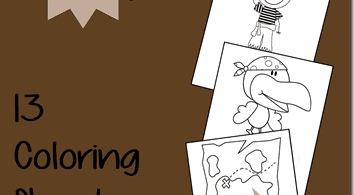 FREE Pirate Coloring Sheets for Kids