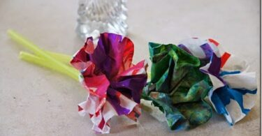 Spin Art Flower Craft for Kids