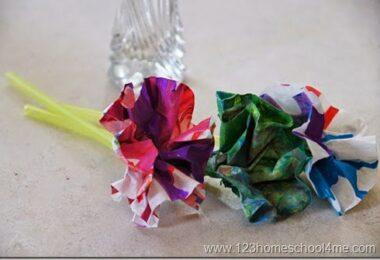 Spin Art Flower Craft for Kids