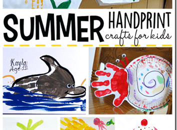 Summer Handprint Crafts