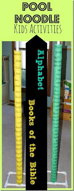 Books of the bible pool noodle stack 123 homeschool 4 me - Pool school 123 ...