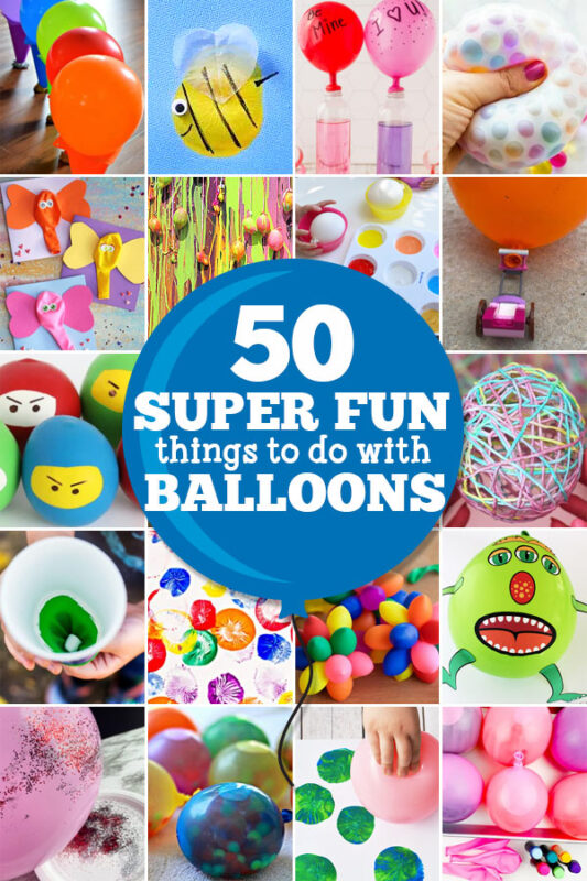 Kids love playing with balloons! Balloons are cheap, easy to get, and provide hours and hours of enjoyement. Perhaps you are tired of the same oldballoon activities. No worries, we have found LOTS of funthings to do with balloons! These things to do with balloons are perfect for toddler, preschool, pre-k, kindergarten, first grade, 2nd grade, and 3rd graders too. Whether you are looking forballoon activities for kids to play indoors during a rainy winter day, or outdoor balloon fun as a summer activity - theseballoon craftideas are sure to be a hit!