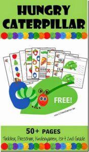 Hungry Caterpillar Preschool Worksheets