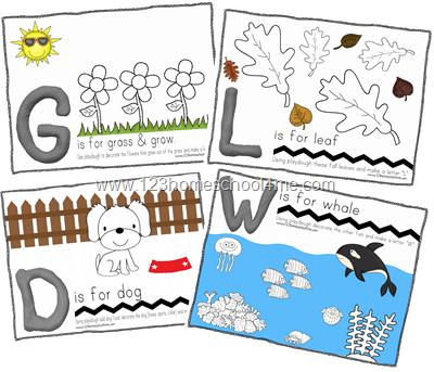 FREE Alphabet Playdough Playmats for Preschoolers