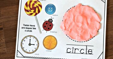 Super cute hands on math activity to teach kindergarten shapes.