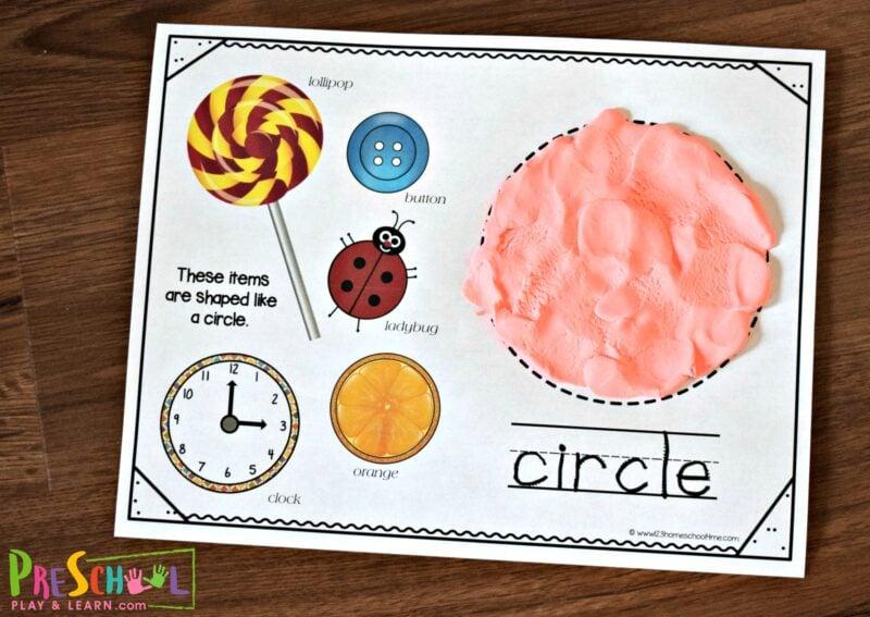 Super cute hands on math activity to teach kindergarten shapes.
