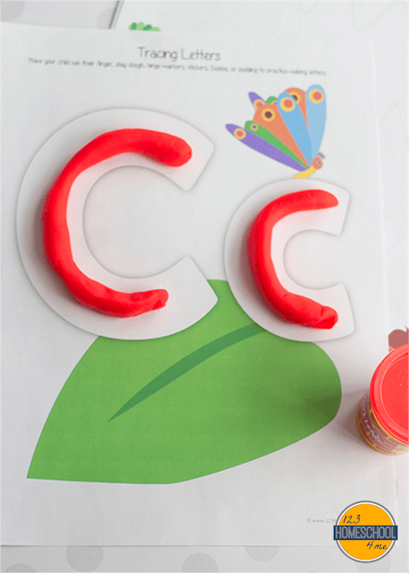 letter c, c is for caterpillar playdough letter free printable alphabet letter worksheets