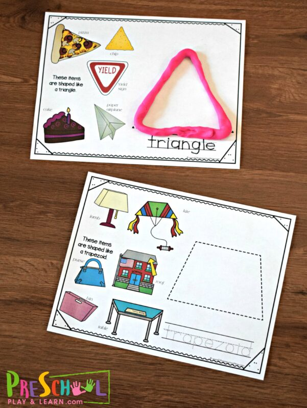 Use playdough in this fun shape playdough activity for toddler, preschool, kindergarten, and first grade students.