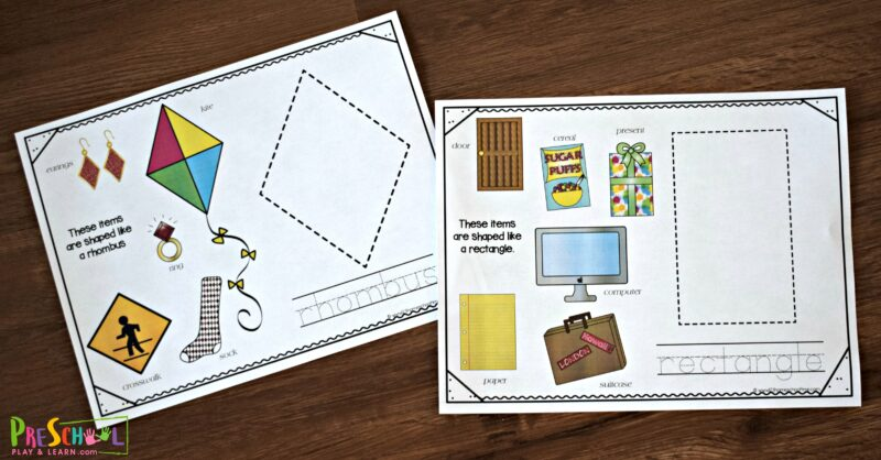 This fun, hands on activity is a great way to teach shapes for kids.