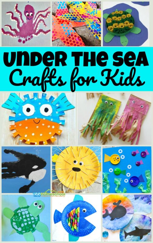 So many cute, clever, and unique under the sea crafts for kids