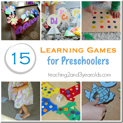 15 Preschool Learning Games - Lots of fun kids activities to keep kids busy and having FUN
