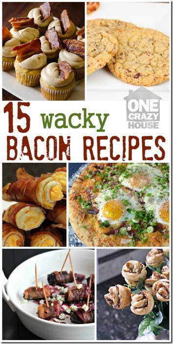 15 mouth watering bacon recipes - YUM! I can't decide which is my favorite I want to try them all!