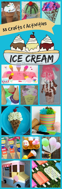 33 Ice Cream Crafts & Kids Activities - So many super clever summer activities for kids of all ages! Adding to summer bucket list!