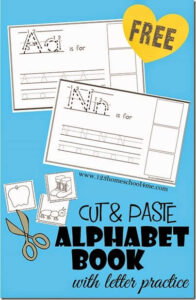 FREE Cut and paste alphabet worksheets