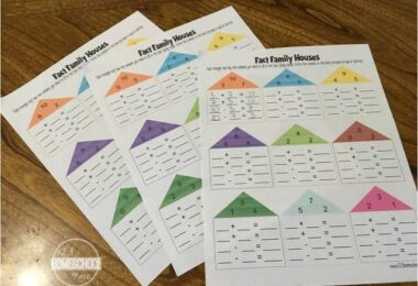 these free printable Fact Family Math worksheets are a great addition to any kindergarten, grade 1, and grade 2 math curriculum for practicing additon and subtraction