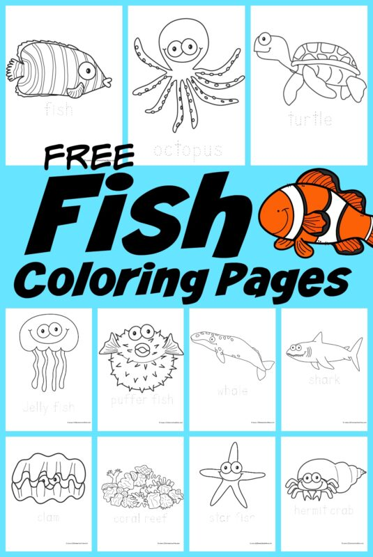 - FREE Fish Coloring Pages For Kids