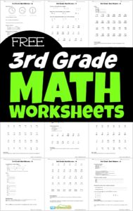 Free Printable 3rd Grade Math Worksheets - Make learning third grade math fun with these free math worksheets to download, print, and practice addition, subtraction, multiplication, division, telling time, word problems, and more! Perfect for extra practice, summer learning, homeschoolers, parents, and more!