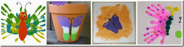 Hand and Foot Butterfly Crafts for Kids