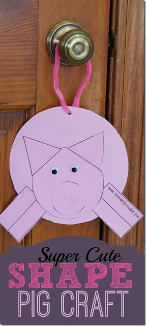 Super Cute Pig Shapes Craft for Toddler, Preschool, Kindergarten, and first grade kids. This is also a great Jesus Drives out evil Spirits Sunday School Lesson and bible craft #biblecraft #shapecraft #printablecraft