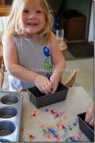 Preschool Pony Bead Craft