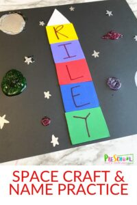 Space Name Craft for Preschoolers