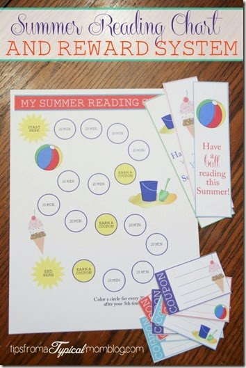 Summer Reading Chart and Reward System