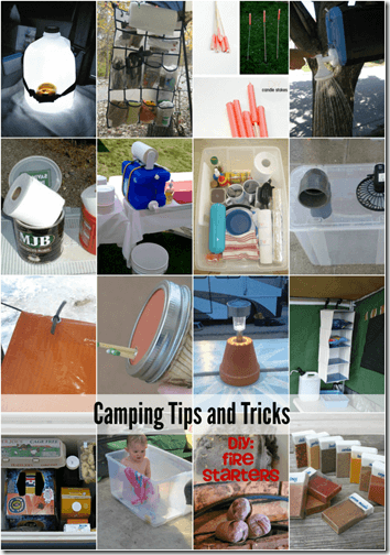 Camping tips and tricks - 20 clever hacks to make camping easier. I love the fire starter idea!