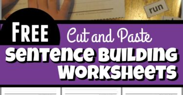 Cut and Paste Sentence Building Worksheets - Kids will have fun practicing building sentences, reading, tracing, writing, and cut and paste simple sentences with Pre Primer Sight Words. These free printable worksheets are perfect for Preschool and Kindergarten students
