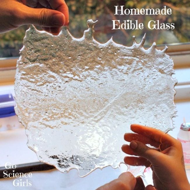 Kids will be amazed as they recreate the process that turns sand into glass but at a much more manageable temperatures with this Edible Glass Science Experiment.
