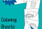 FREE Ocean Fish Coloring Sheets