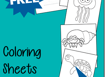FREE Ocean Fish Coloring Sheets