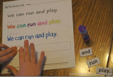 FREE Building Sentences with Pre Primer Sight Words
