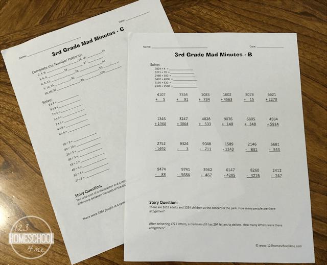 rd grade math worksheets   homeschool  me rd grade math worksheets