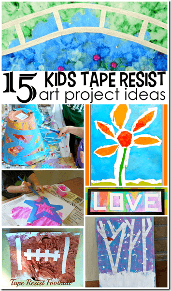 15 Tape Resist Painting Crafts For Kids 123 Homeschool 4 Me