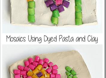 Pasta Mosaic Kids Activities