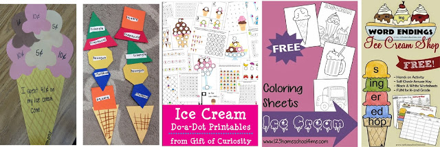 ice cream printables for kids