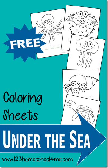 FREE Ocean Fish Coloring Pages - These are super cute coloring sheets perfect for Toddler, Preschool, Kindergarten, and more!