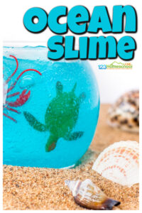 Kids of all ages will love playing with this new ocean slime. Not only does this ocean slime recipe have a wonderful texture and mesmerizing color, but thisocean activity for kidswill lead to hours and hours of creative play. Add thisunder the sea slime to your nextocean unit for some engaging play with ocean animals with your toddler, preschool, pre-k, kindergarten, first grade, 2nd grade, 3rd graders, and more! These ocean activities for preschoolers is a MUST try.