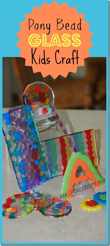 Melted Pony Bead Craft for Kids - This is SO COOL!! What an easy to make, fun project for kids to make homemade presents like DIY Coaster Present, Glass Sculpture, Mobile, or Suncatcher. Great summer activity for kids of all ages!