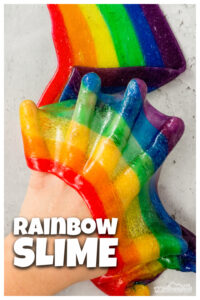 If your kids love slime - they are going to flip over making Rainbow Slime! Use this rainbow activity for kids as part of your next rainbow theme for spring or summer. This colorful slime recipe is also a really fun St Patricks day activity, a weather activity, or a color theme too! Toddler, preschool, pre-k, kindergarten, first grade, 2nd grade, 3rd grade and 4th grade students will love this rainbow art ideas. Just follow our simplerainbow slime recipeand we will show youhow to make rainbow slime.