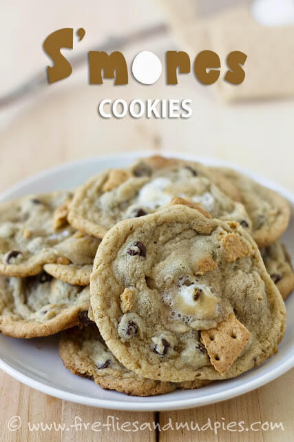 Smore Cookie Recipe - YUMMY! These are such a fun summer dessert recipe that will bring back memories of of family campfires!