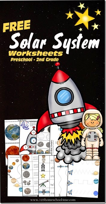 Kids will have fun learning a bout the solar systme with these free printable worksheets for kids