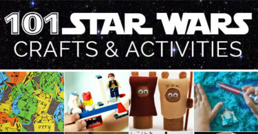 Looking for some super cute Star Wars crafts and activities from a galaxy far, far away? This huge list of 101 crafts for kids will keep the whole family busy! These are perfect for celebrating May the 4th, a star wars theme, or just focusing on something that interests your child.
